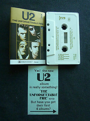 U2 The Unforgettable Fire Ultra Rare Australian Cassette Tape! X