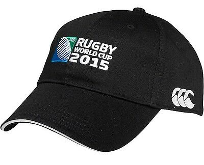Official Rugby World Cup 2015 RWC Logo Cap by Canterbury - Black One Size BNWT