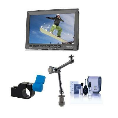 """Feelworld 7"""" HD IPS Ultra-thin On-Camera Field Monitor, 7.5"""" Articulating Arm"""