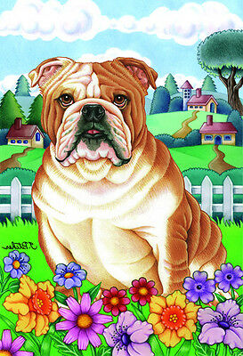 Large Indoor/Outdoor Spring Flag - English Bulldog 73025 TP
