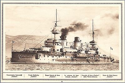1915 Print WW I Photo French Battleship Goulois