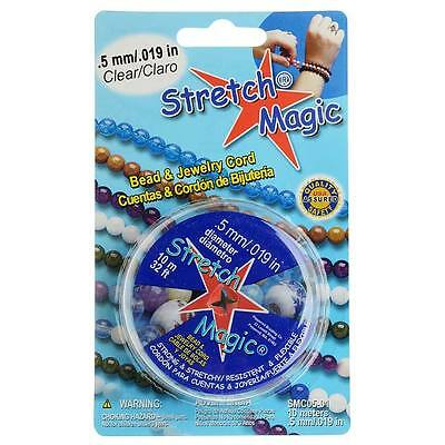 Stretch Magic Clear Stretchy Cord .5mm Width - 10 Meters