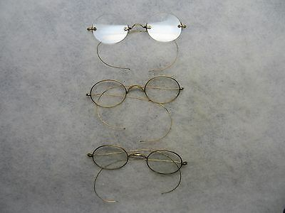 Antique Wire Rim Gold Eyeglasses LOT SEE...... J.O. Co. 14 G.F. St-Tite