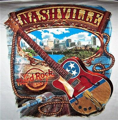 Hard Rock Cafe Nashville City Tee T-Shirt Size Adult Xx-Large - New With Tags