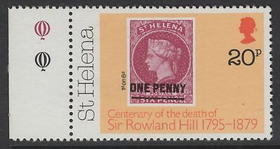 ST.HELENA SG353w 1979 20p ROWLAND HILL WMK CROWN TO RIGHT OF CA MNH