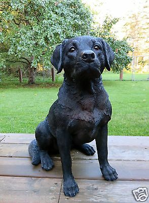 BLACK LAB DOG FIGURINE resin animal Statue PET COUNTRY DECORATION  NEW