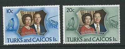 Turks & Caicos Is. Sg372/3 1972 Silver Wedding Mnh
