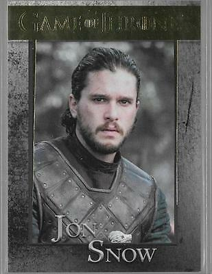 2017 Game of Thrones Season 6 #35 Jon Snow Gold #d /150