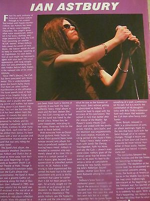 The Cult, Ian Astbury, Full Page Vintage Clipping