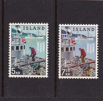 Iceland #354-355 Mnh Freedom From Hunger Campaign