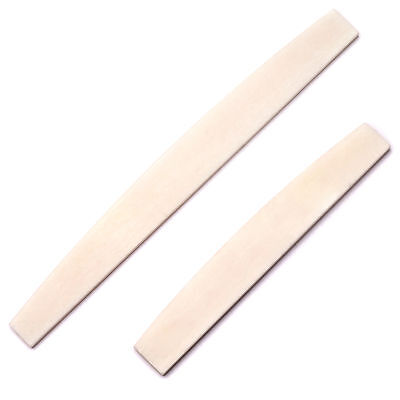 Premium Quality Camel Bone Radiused Acoustic Guitar Bridge Saddle Blank