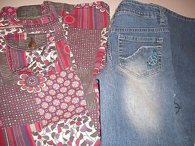 2 Pair Little Girl's SZ 8 Jeans by THE CHILDRENS PLACE & So      Super CUTE!!