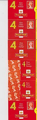 24  1st   CLASS  STAMPS  IN    BOOKLETS