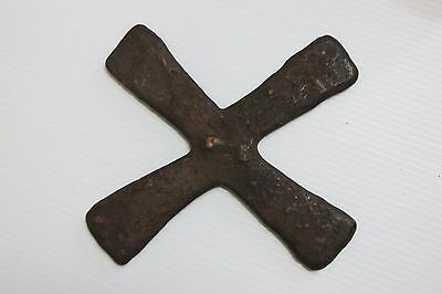 Katanga Cross Currency Cast Copper Alloy from Congo Zaire African Art