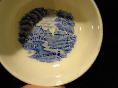 1 Vintage English Scenery Colonial Wood Burslem Salt Cellar Dish England