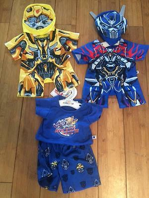 Build A Bear Factory Fab Transformers Bundle Incl Pjs Bnwt