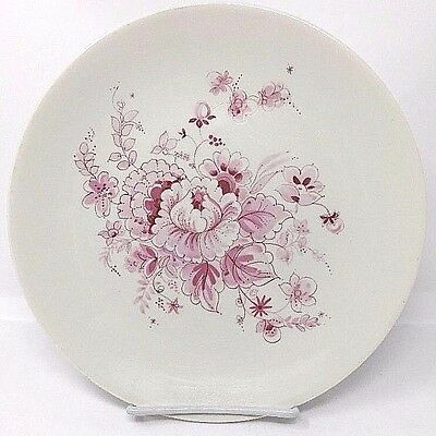 IMPROMPTU by IROQUOIS COLONIAL PINK DINNER Plate Flowers  Ben Seibe HAS **CHIP**