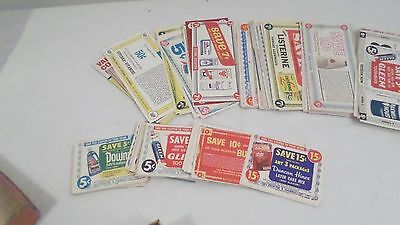 Lot of Vintage 1960's Grocery Coupons