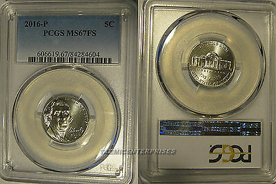 2016 P Jefferson Nickel 5c PCGS MS67FS Full Steps