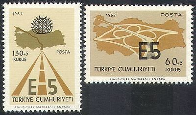Turkey 1967 Road/Motorway/Highway/Motoring/Transport/Maps/Construction 2v n41118