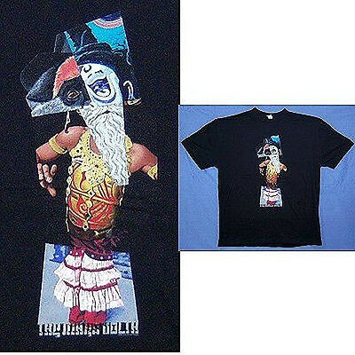 Mars Volta! Bearded Man Collage Black T-Shirt Xl X-Large New!