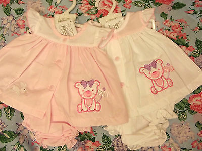 Dream Premature Newborn Baby Girls White Or Pink Dress & Knickers Or Reborn Doll