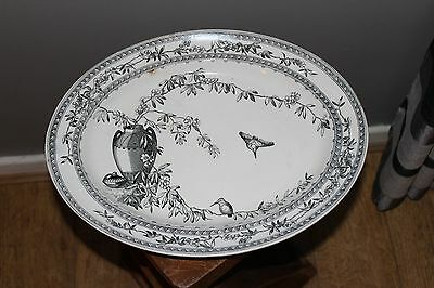 "Antique Large George Jones ""cairo"" Pattern Large Platter / Serving Plate / 19Thc"