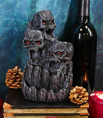 Three Screaming Skull Death Mountain Cave Backflow Incense Burner Aroma Figurine