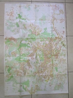JERUSALEM: A CITY MAP,1:12500 SCALE, MAPPING DEPARTMENT, ISRAEL 1986. cs2443