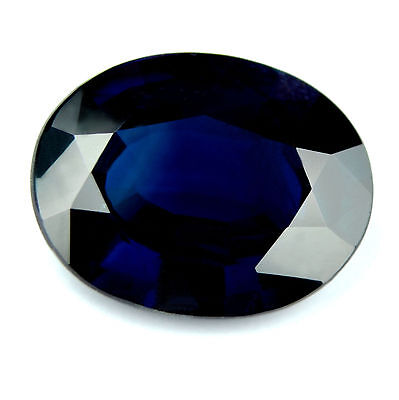 Certified Natural Unheated Blue Sapphire 2.62ct VVS Oval Untreated Madagascar