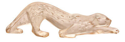 Lalique Zeila Panther Sculpture Small Gold Lustre Brand Nib #10550100 Crystal Fs