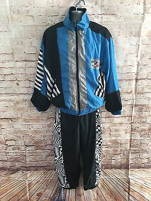 VTG Full Shell Suit Retro Rave 80s Sports Festival Stag & Hen Football Medium