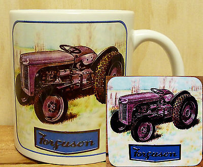 300ml COFFEE MUG WITH MATCHING COASTER - FERGUSON TE20 TRACTOR