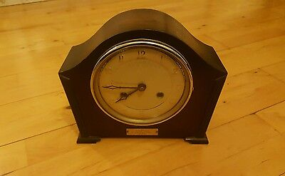 Vintage Bentima Striking Mantel Clock with 8 Day Platform Escapement Movement WO