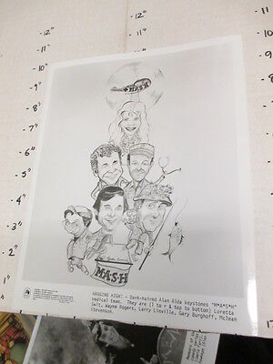 MASH CBS TV studio show promo photo 1979 4077th Army medical COMIC ART cast
