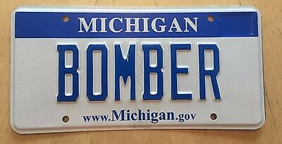 "Blue Bar Vanity License Plate "" Bomber ""  Military Jet Usaf Air Force The Bomb"