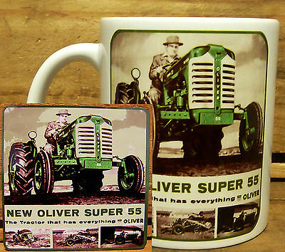 300ml COFFEE MUG WITH MATCHING COASTER - OLIVER TRACTORS