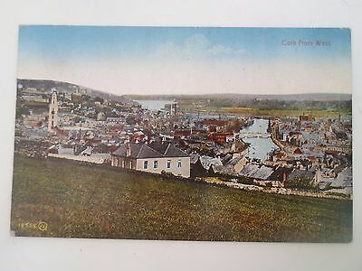 Vintage Postcard CORK FROM WEST Ireland - Written to the Rear Stamp Removed