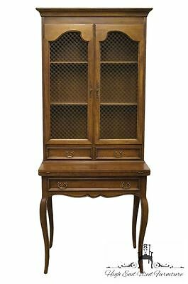 CENTURY FURNITURE Country French 32″ Fold Out Writing Desk w/ Bookcase Made i...