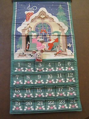 Vintage 1987 Avon Christmas Countdown Calendar Advent Complete with Mouse