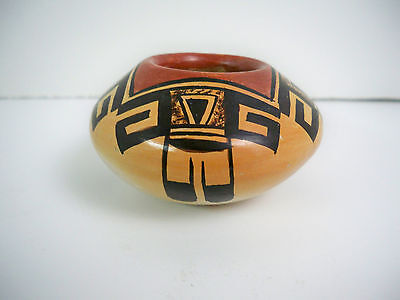 Hopi American Indian Pottery Miniature Bowl - Rachel Sahmie