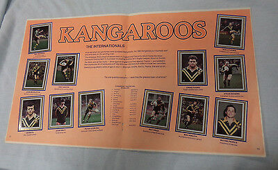 #t47. 1983 Rugby League Stickers - Kangaroos / Manly / Western Suburbs