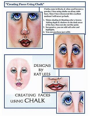 """*new* """"creating Faces Using Chalk"""" Downloadable Pdf Tutorial File By Kat Lees"""