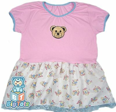 """BIG TOTS""""  Ballet Teddy's adult size baby girl dress 44"""" chest"""