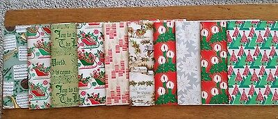 Vintage Boxed Christmas Gift Wrap 10 Unused Sheets