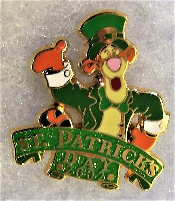 Disney Tigger St Patricks Day 2002 12 Months Of Magic Pin