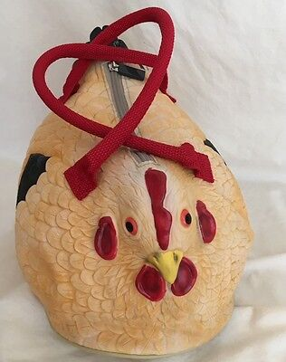 Novelty Rubber Chicken Handbag Tote Hen Purse Pocketbook