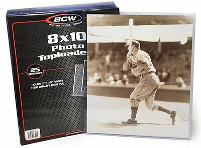 150 Premium 8X10 Photo Toploaders BCW Clear Hard Plastic Holder Protects Photos