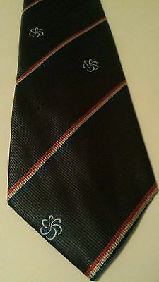 "EXPO '90 NECK TIE Exposition OSAKA, JAPAN 1990 BLUE Diagonal Stripes 56"" Long"