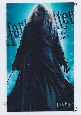 Clear 69 Short Print Card Harry Potter Heroes & Villains Albus Dumbledore Gambon